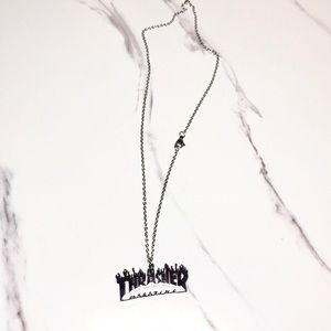 NEW Thrasher silver necklace pendant
